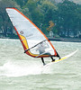 jhwindy1 - Steve Howie of Cananadaigua Sailboarding gets a little air as he and Jim Bell and Ron Engebrecht took advantage to wind speeds of 30-35 mph on Wednesday at the north end of Canandaigua Lake.