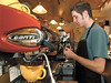 jhstarbuckshere1 - Corey Jones makes a latte at Phoenix Coffee on the corner of North Main and Buffalo Street in Canandaigua. He and Veronica Morgan have been with the shop since day one.