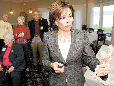 jhPirro - Jeannine Pirro is running for Attorney General and on Friday at Thendara she spoke on some of the issues at a meet and greet party with faithful at Thendara Inn  Friday morning.
