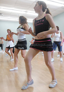 jhzumba5 - The youngest dancer is Alexis Werner, 14, who is dancing with her mother Stacey Werner.