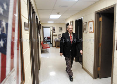 jhsheriff4 - Sheriff Phil Povero is back at his office after major heart surgery.