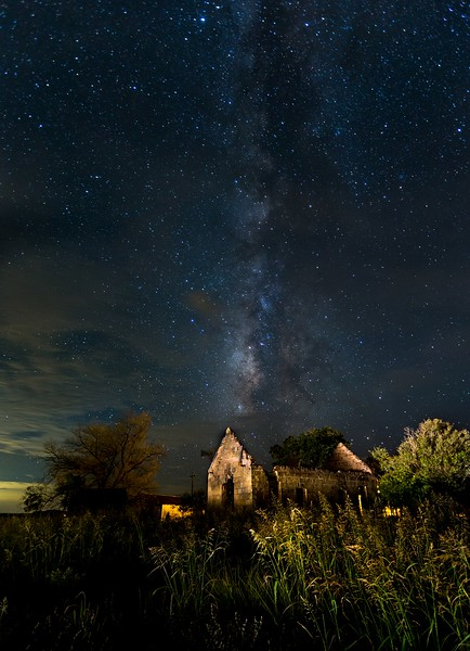 Another shot of the old building in Pontotoc, Texas with the Milky Way above.