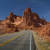 Main road through Arches N.P.