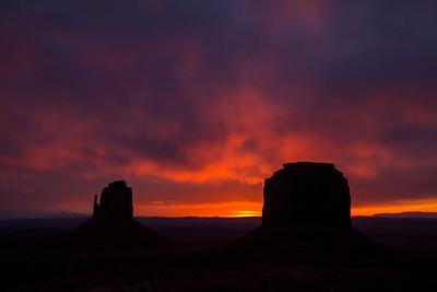 Monument valley sunrise.