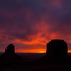 Monument valley sunrise.