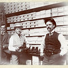 Men in a shoe store, ca. 1890.  MP AP