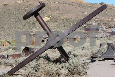 Mining machinery in Bodie, CA
