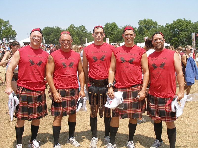 Warrior Dash ~ Benedictine Alums ..  Brian Grewe, Troy Kyle, Adam Finnocharrio, Austin Braithwait & Tom Gorman