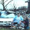 Globe/B.W.Shepherd<br /> A man sets on a toilet stool and waits for help along 20th street, 1 1/2 hours after the EF-5 tornado riped through Joplin on Sunday evening. May 22, 2011.