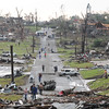 Globe/Mike Gullett<br /> A view looking west down 26th Street in Joplin, MO, after a tornado hit the town on Sunday, May 22, 2011.