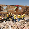 Volunteers from Tennessee work on cleanup in Joplin, Mo.