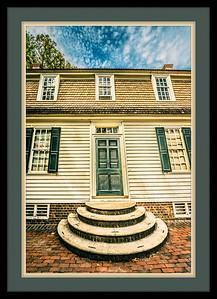 Williamsburg House Framed
