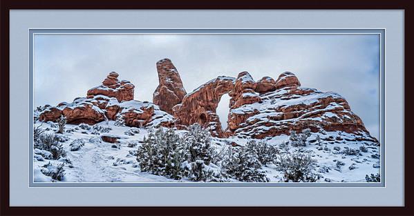 Turret Arch Snowy Framed