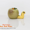 apple and worm salt and pepper shakers