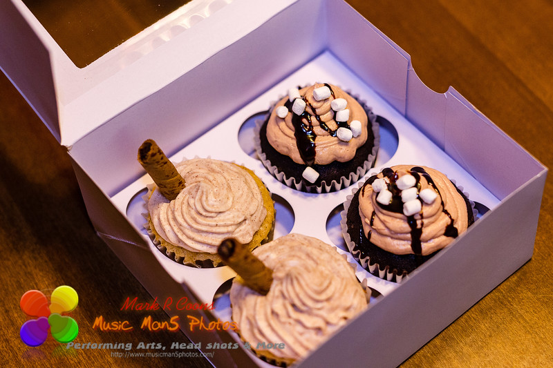 gift box of four delicious homemade cupcakes