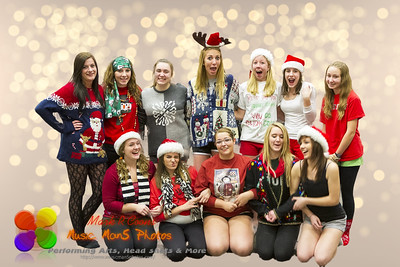 NCHS Colorguard Holiday Party 2011