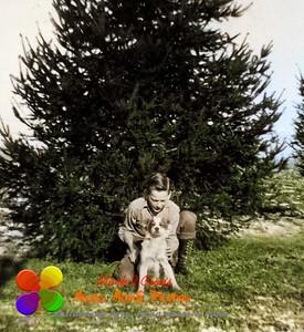 colorized B/W photo