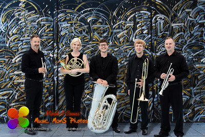 On the street with the Twin Cities Brass Quintet