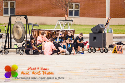 percussionists at rest