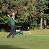 Lunenburg High School Golf team hosted Oakmont Regional High School at Settler's Crossing Golf Course on Wednesday afternoon. ORHS sophomore Paul Barrett hits one off the fairway for his second shot during action in the match. SENTINEL & ENTERPRISE/ JOHN LOVE