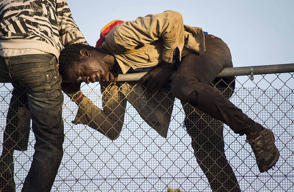 Africans desperate to get into Spain.