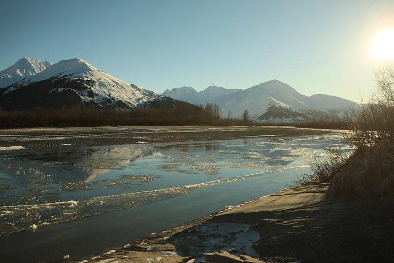 January 31, 2016.   Near the Alaska Wildlife Conservation Center
