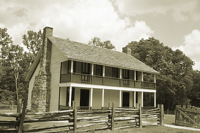 Elk Horn Cabin, Pea Ridge Battlefield in Northwest Arkansas