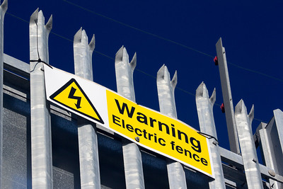 Electric fence (Bridgend industrial estate)