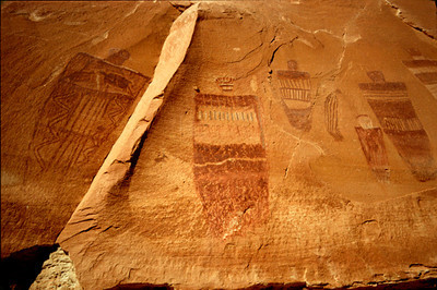 Grand Gallery detail, Horseshoe Canyon, Canyonlands National Park