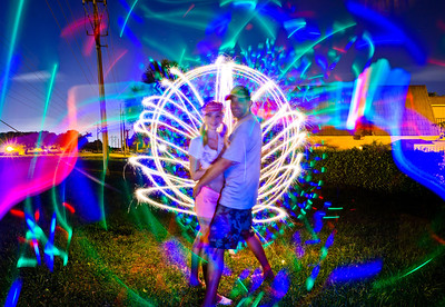 Saturday, July 7, 2012. Light painting with Lana and Seth.