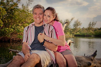 Saturday, June 2, 2012. Me and my wife pose for a shot up in Jupiter, FL.