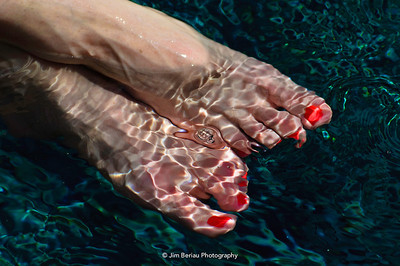 Saturday, March 24, 2012. Toes in the pool.