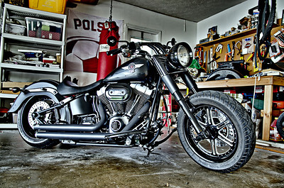 Sunday, Sept. 30. Art's Harley Davidson. HDR rendering.