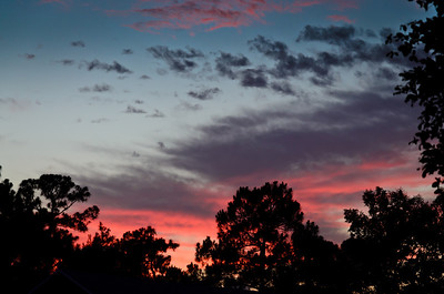 Monday, May 21, 2012. Sunset over my house in Wellington, FL.
