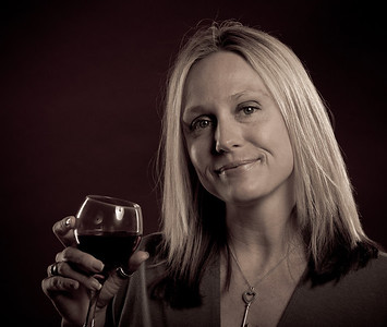 Sunday, June 10, 2012. Stacey enjoys her wine.