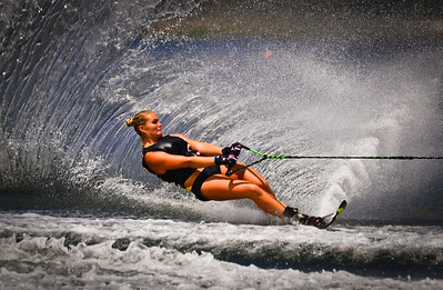 Saturday, May 5, 2012. Waterskiing competition at Okeeheelee Park in Royal Palm Beach, FL.
