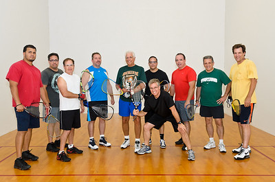 Wednesday, May 23, 2012. Racquetball league group shot. One guy wasn't present.