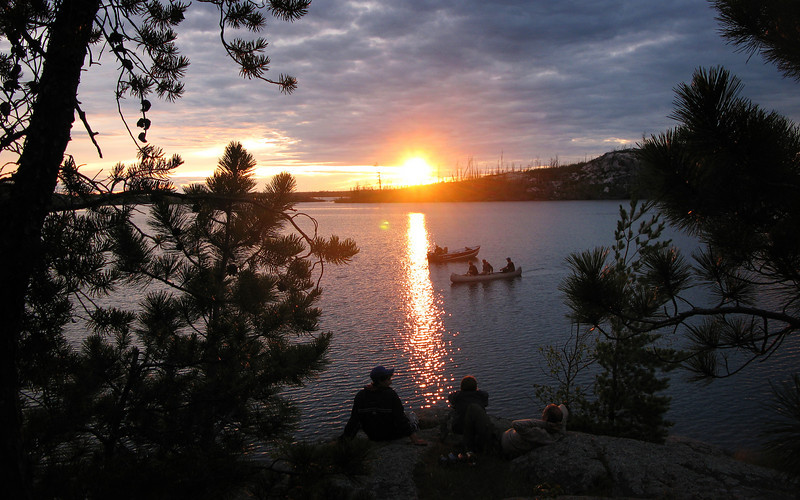 Boundary Waters Sunset... photo: Sam Arneson