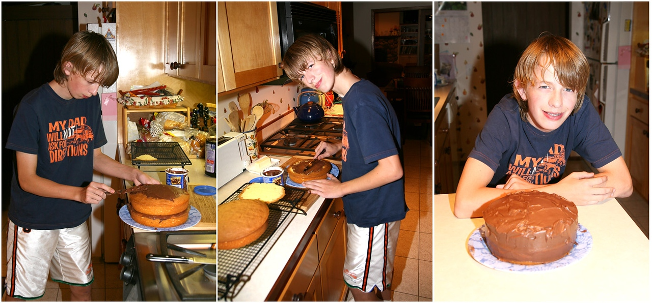 Sam bakes a cake