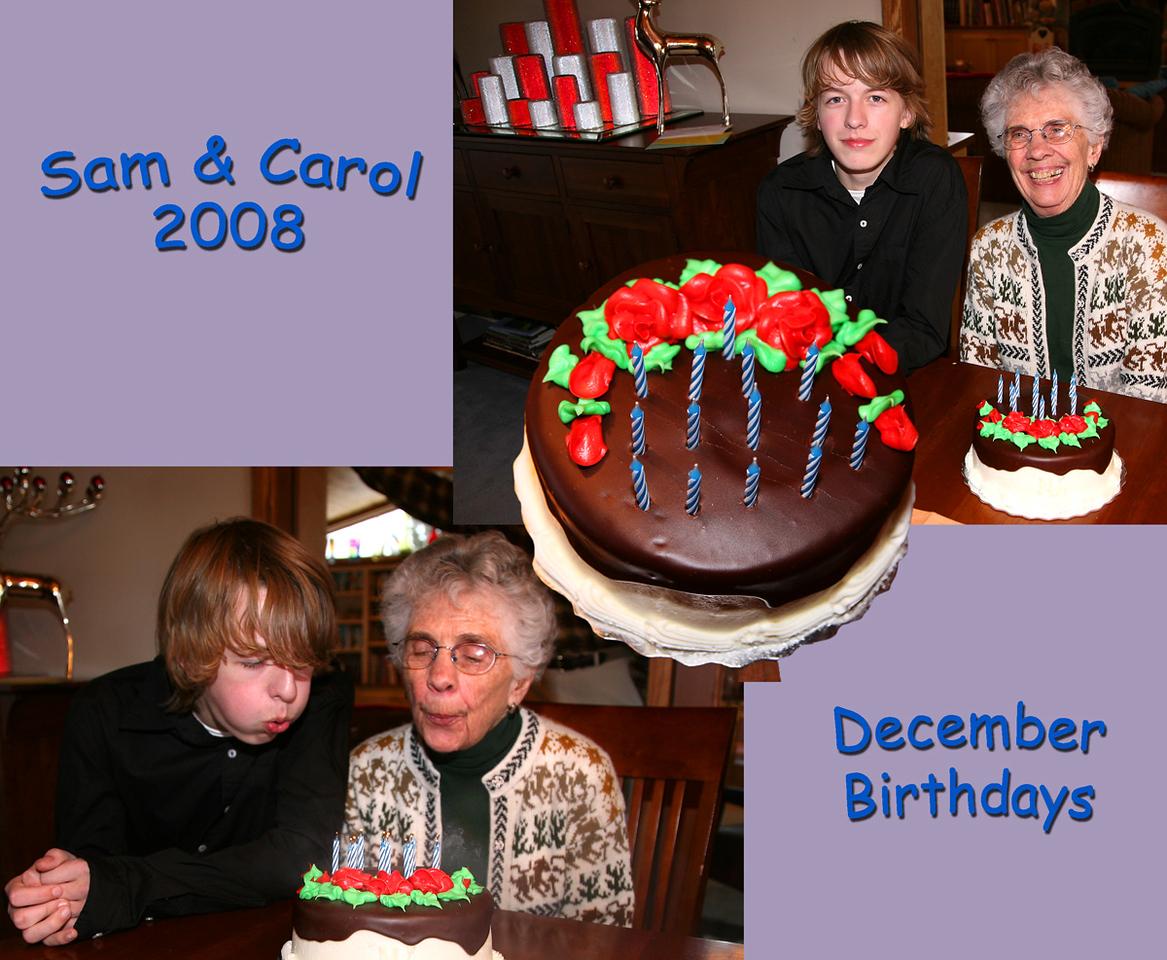 Sam and Carol's birthday 2008