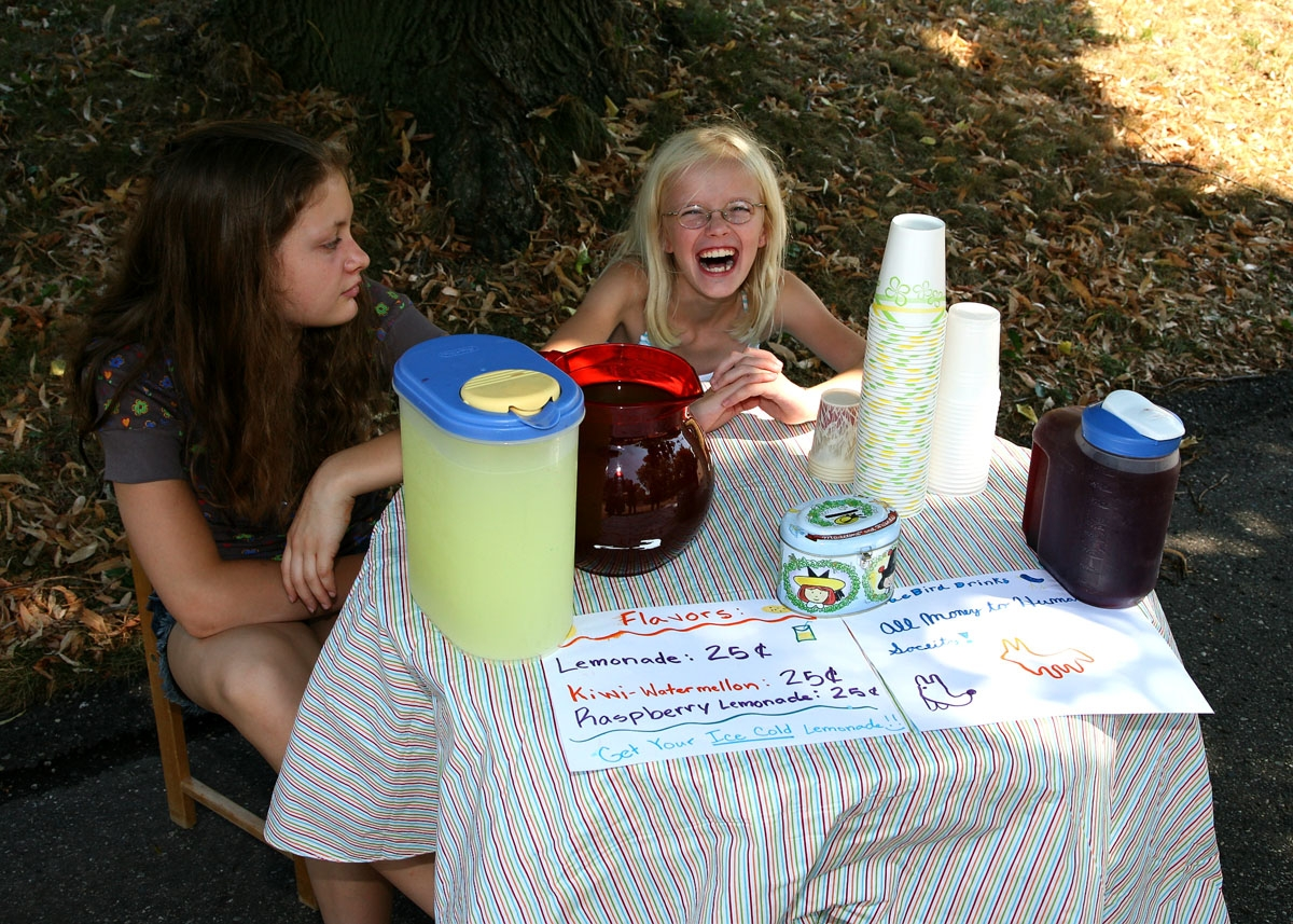 Would you buy a glass of lemonade from these two?