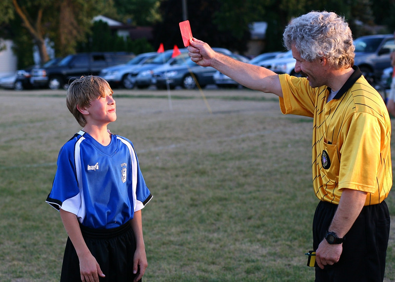 Harris get the Red Card!