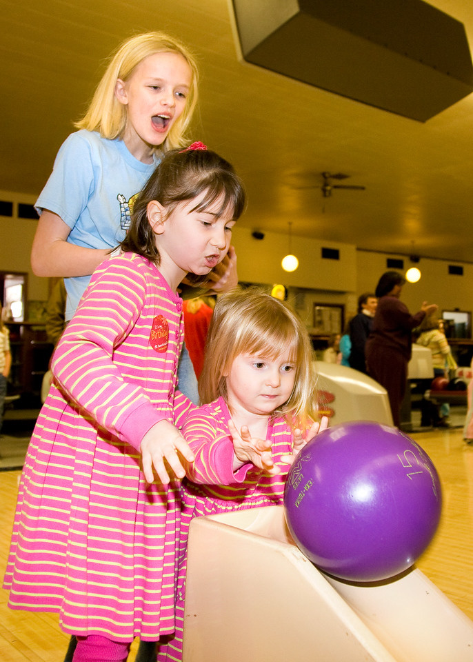 Millie goes bowling...