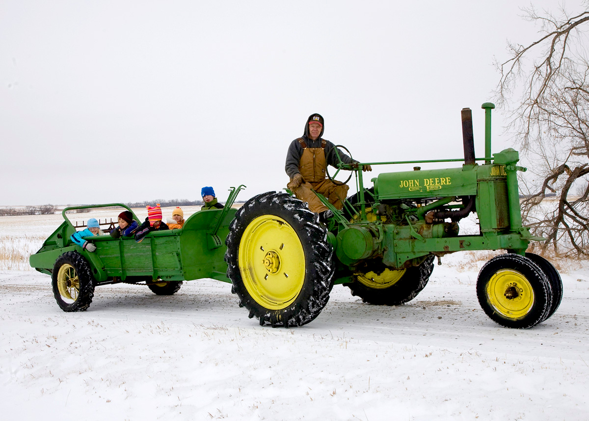 Christmas tractor ride