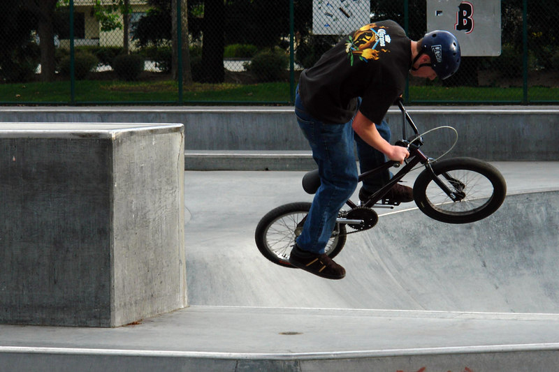 April.15,2006  <U>Airborne</U>  A BMX stunt at local skate park
