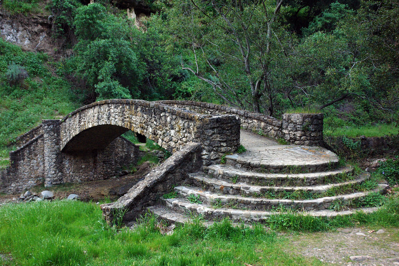 June.17,2006  <U>One stone too many</U>  A stony bridge over Stony creek in Alum Rock State Park.