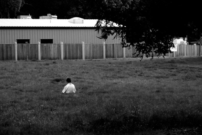 June.1,2006  <U>Sulking</U>  Shot in failing light at ISO 1600 - way too much noise.