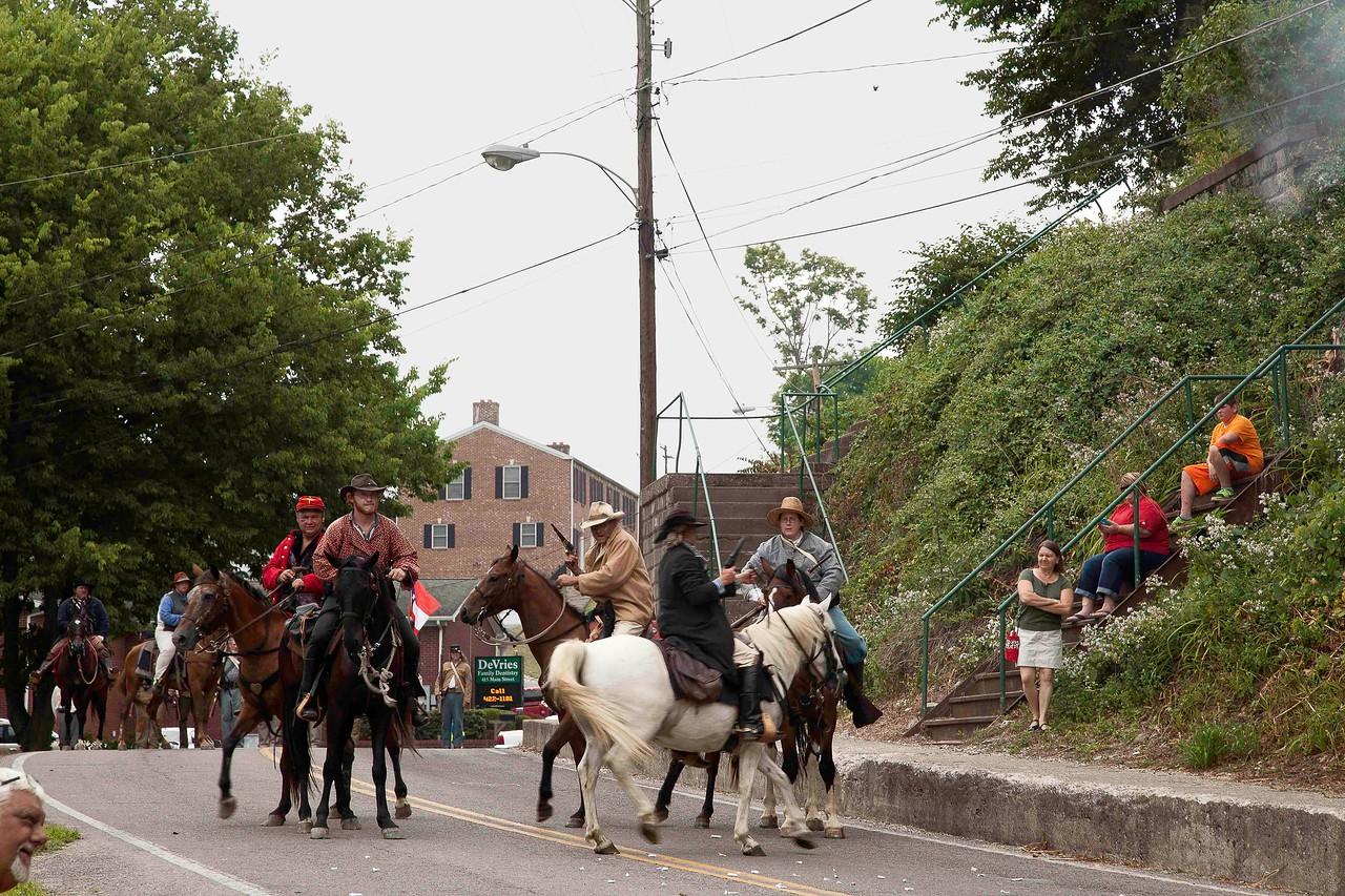 Re-enactment of General Morgan's Raid, Brandenburg, Kentucky