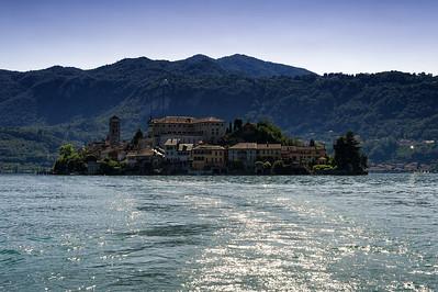 Isola San Giulio, Lago di Orta, Piedmont, Italy.