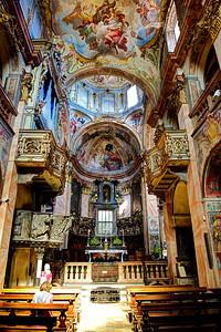 Basilica of San Giulio on Isola San Giulio, Lago di Orta, Piedmont, Italy.